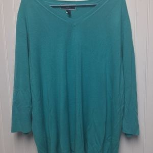 Karen Scott Green Sweater 3X